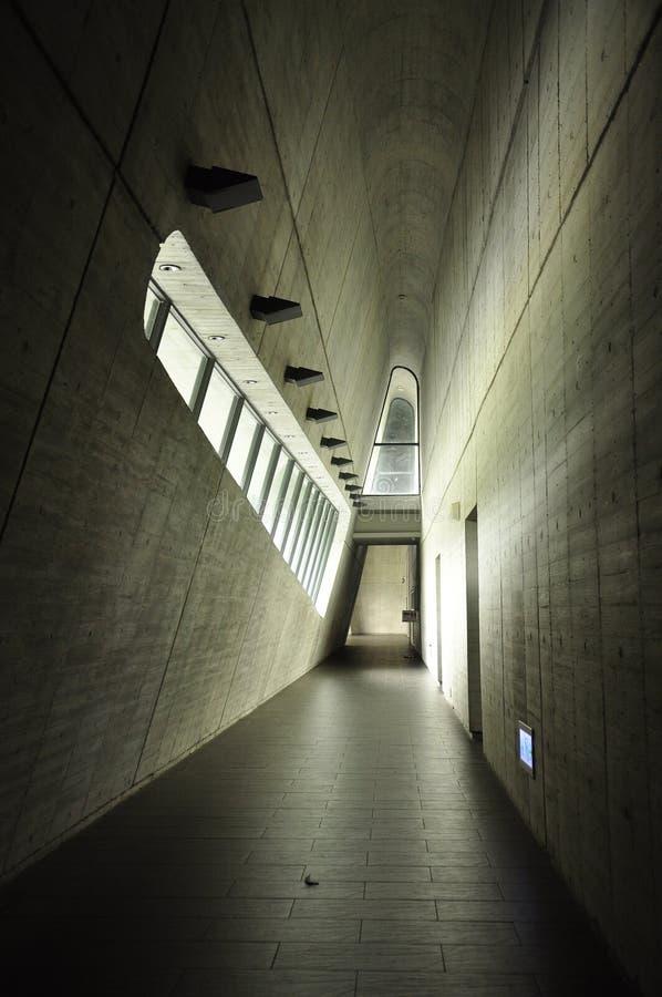 Arquitetura moderna em Taiwan Corredor interno fotos de stock royalty free