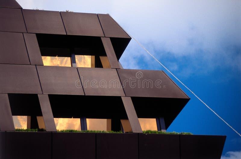 Arquitetura moderna em Zurique fotografia de stock
