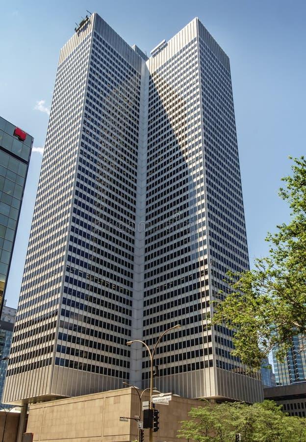 Arquitetura moderna (Montreal) imagem de stock