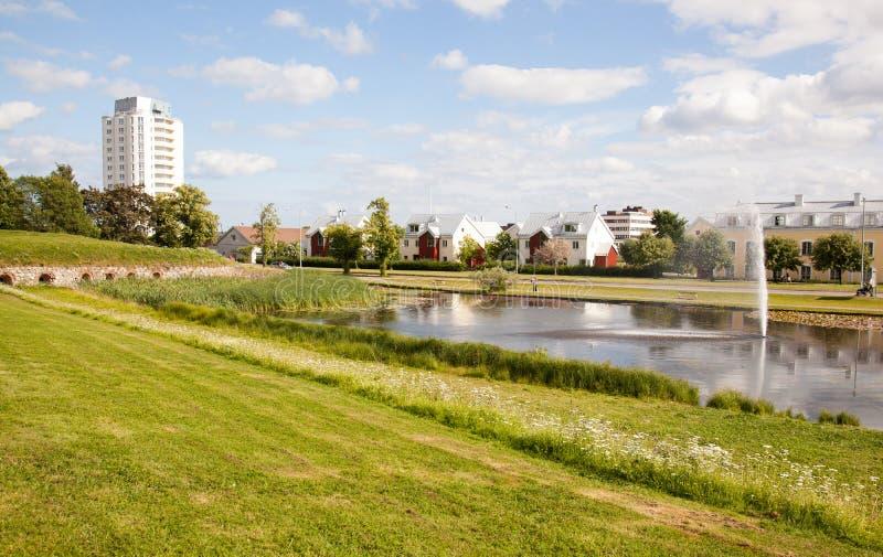 Arquitetura moderna, Nyköping. fotos de stock royalty free