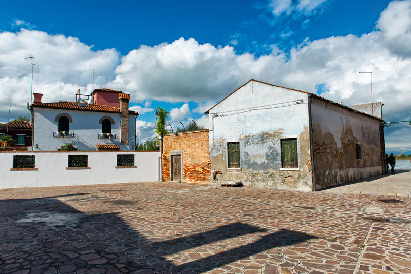Arquitetura na ilha de Murano, Veneza imagens de stock