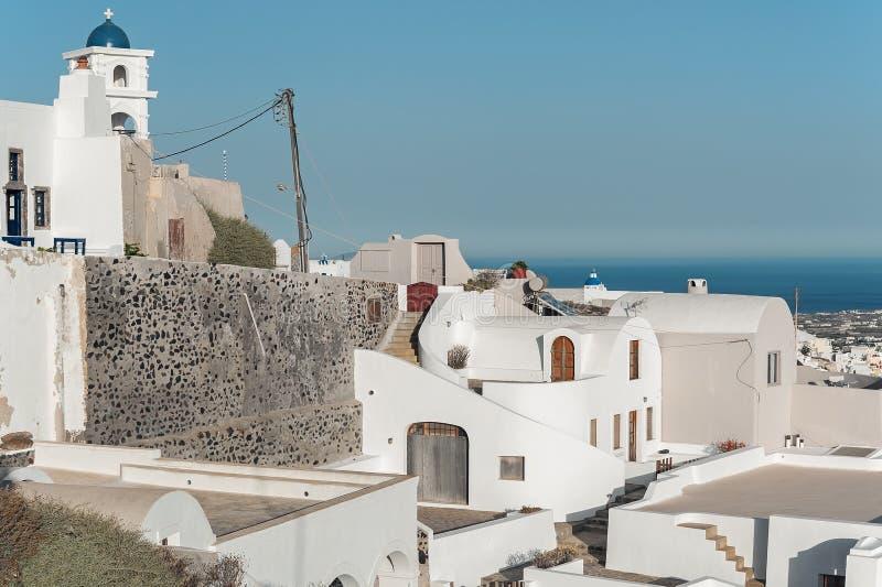 A arquitetura original de Imerovigli, Santorini, Grécia fotos de stock