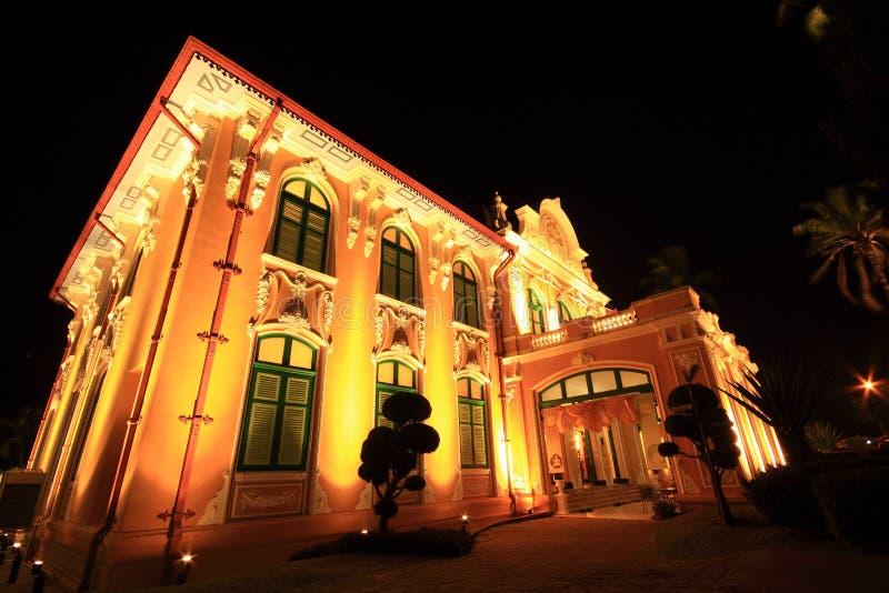 Arquitetura paisagística da noite foto de stock royalty free
