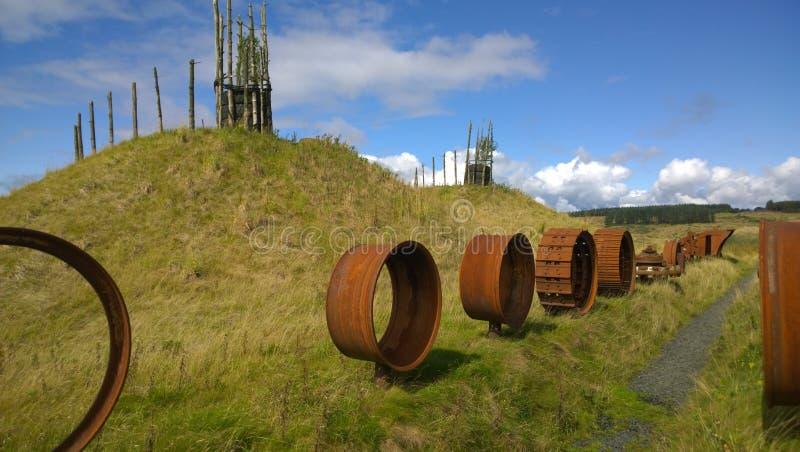 Arquitetura paisagística - regeneração do antigo local Opencast fotografia de stock royalty free