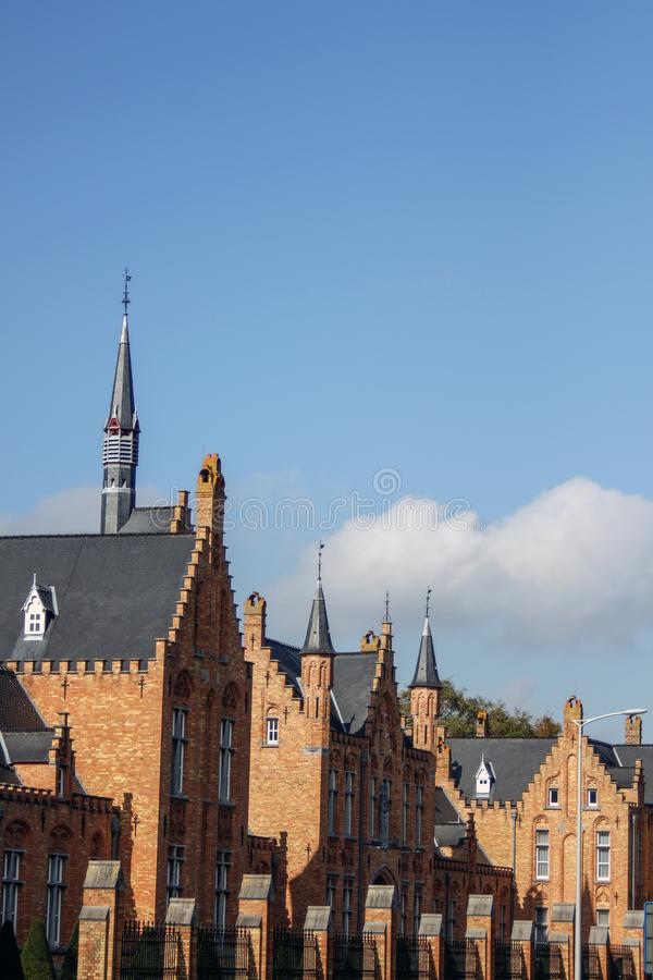 Arquitetura pisada medieval fotografia de stock royalty free