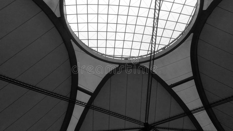 Arquitetura preto e branco foto de stock
