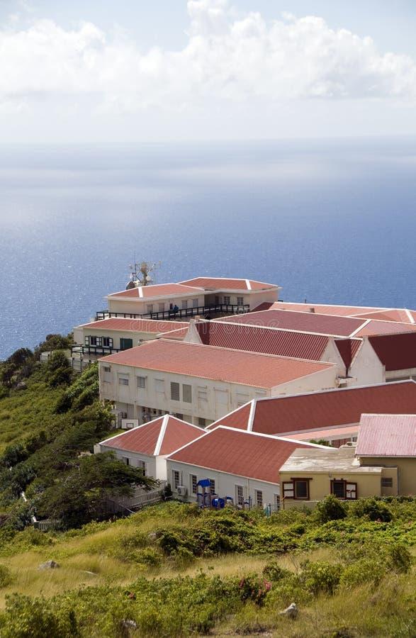 Arquitetura Saba Antilhas holandesas holandesas fotos de stock