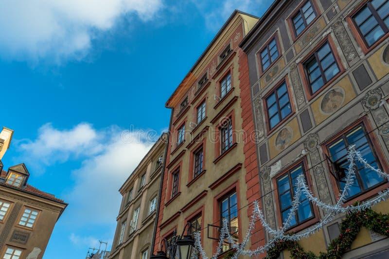 Arquitetura sazonal da cidade velha de Varsóvia foto de stock royalty free