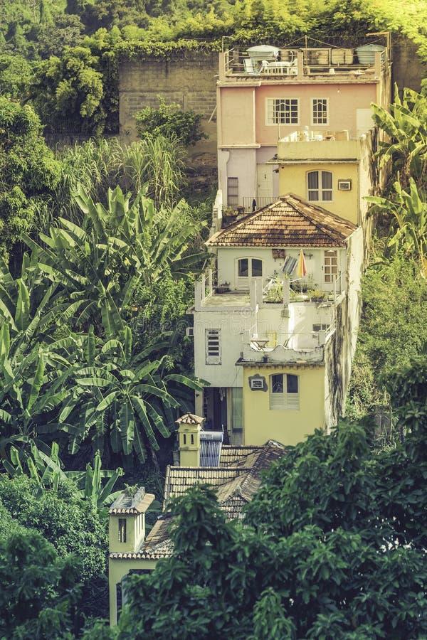 Arquitetura típica em Rio de janeiro imagem de stock