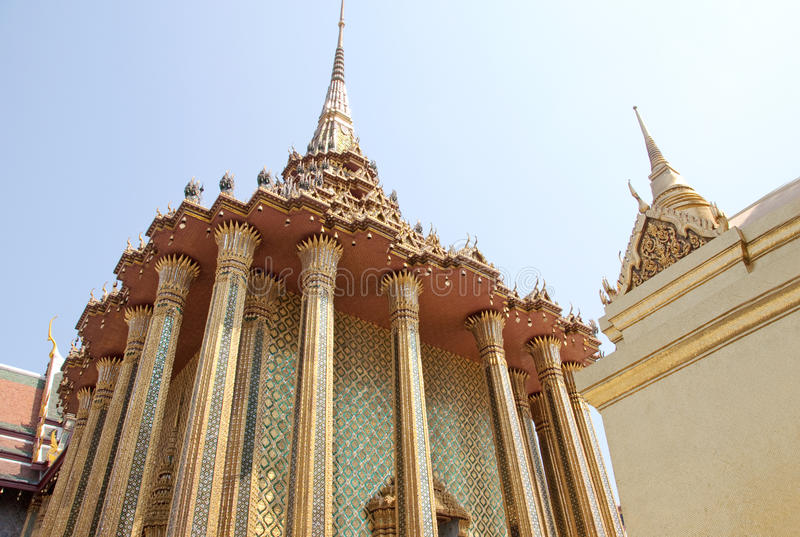Arquitetura tailandesa bonita foto de stock