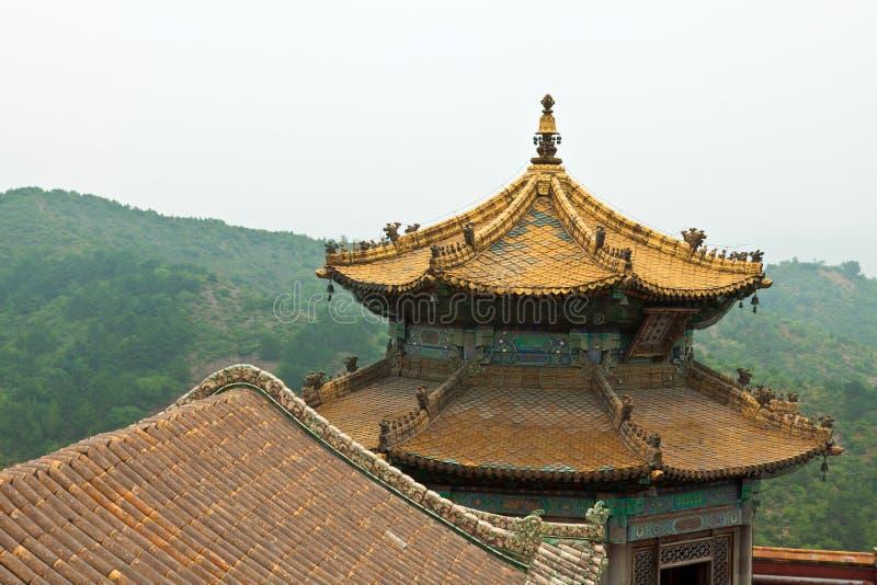 Arquitetura tibetana no templo dos casos, Chengde de Putuo, montanha imagem de stock