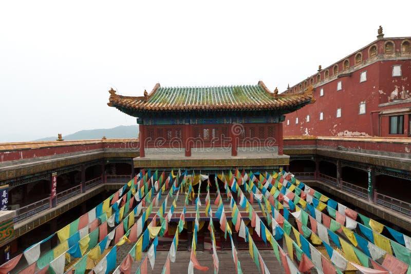 Arquitetura tibetana no templo dos casos, Chengde de Putuo, montanha imagens de stock royalty free