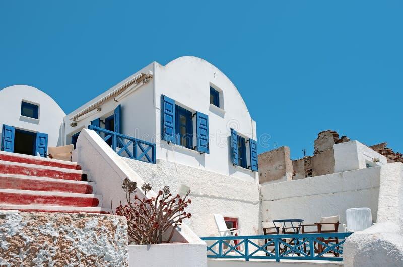 Arquitetura tradicional de Oia, Santorini, Grécia fotografia de stock royalty free