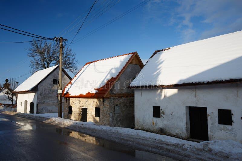 Arquitetura tradicional eslovaca imagens de stock