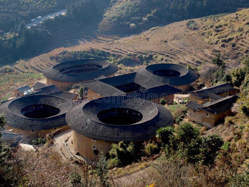 Arquitetura Tulou-especial de Fujian de China imagem de stock royalty free