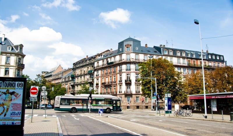 Arquitetura urbana de França Strasborg no verão foto de stock royalty free