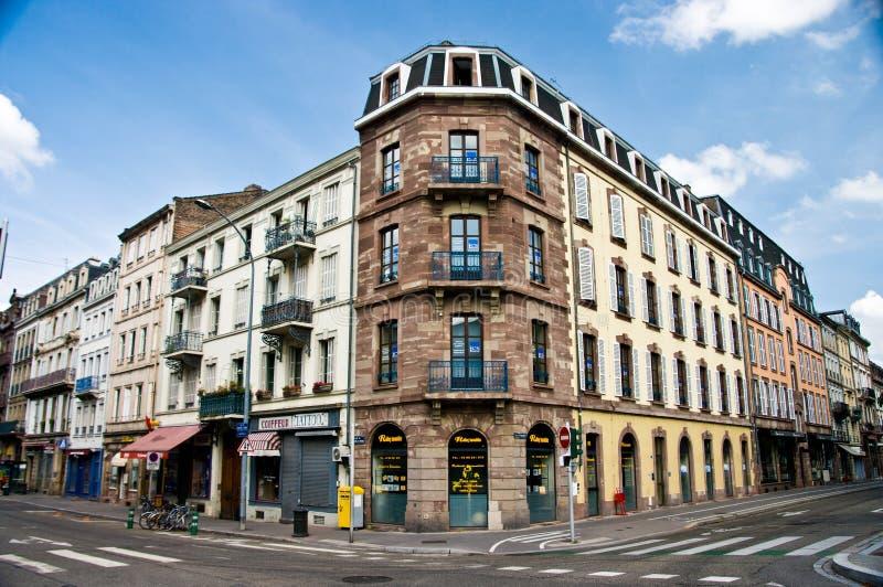 Arquitetura urbana de França Strasborg no verão fotos de stock