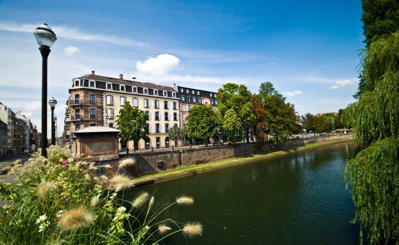 Arquitetura urbana de França Strasborg no verão fotografia de stock royalty free
