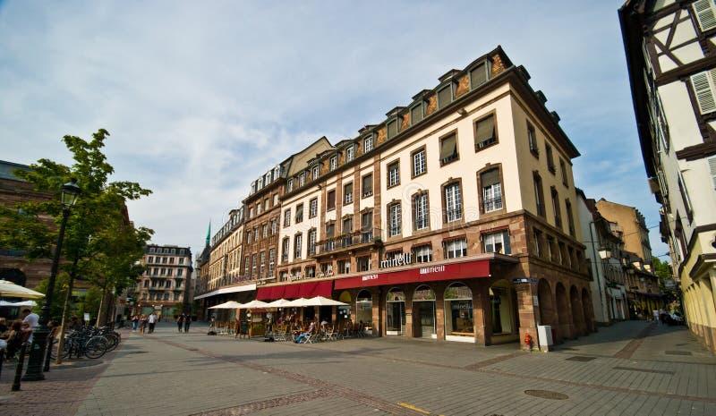 Arquitetura urbana de França Strasborg no verão imagem de stock royalty free