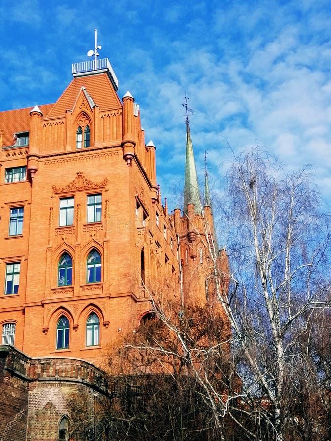 Arquitetura velha bonita de Szczecin, Polônia imagem de stock