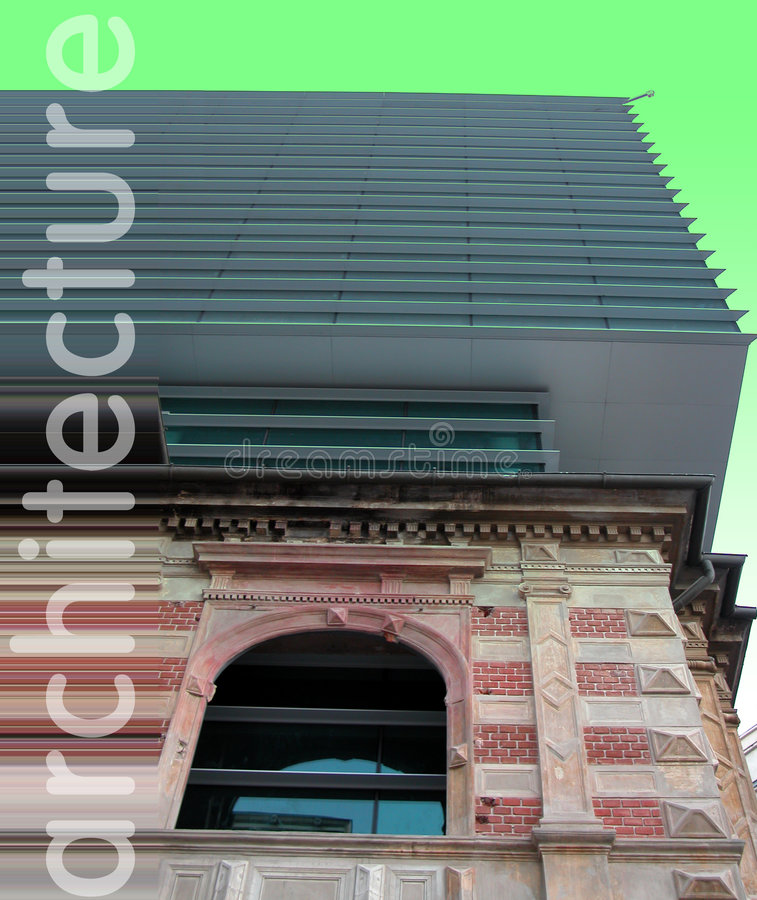 Arquitetura velha contra novo fotos de stock