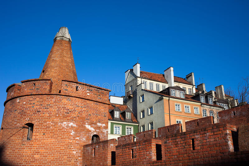 Arquitetura velha da cidade de Varsóvia foto de stock royalty free