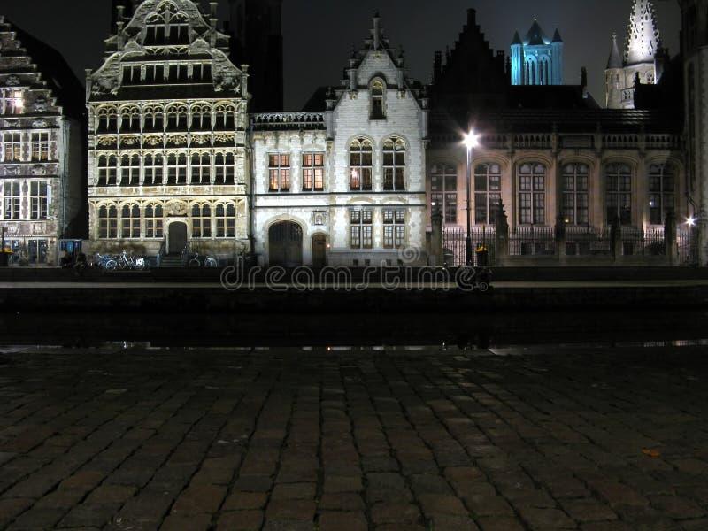 Arquitetura velha de Europa (Gent Bélgica) fotografia de stock royalty free