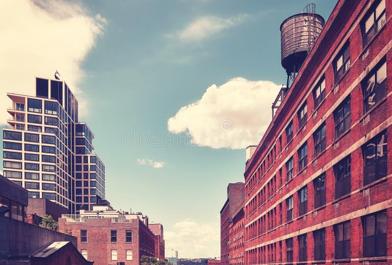 Arquitetura velha e moderna de New York City, EUA foto de stock royalty free