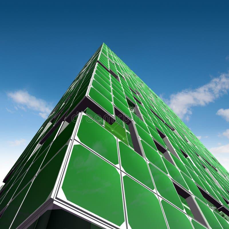 Arquitetura verde da ecologia ilustração royalty free