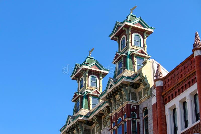 Arquitetura vitoriano em Gaslamp, San Diego fotografia de stock royalty free
