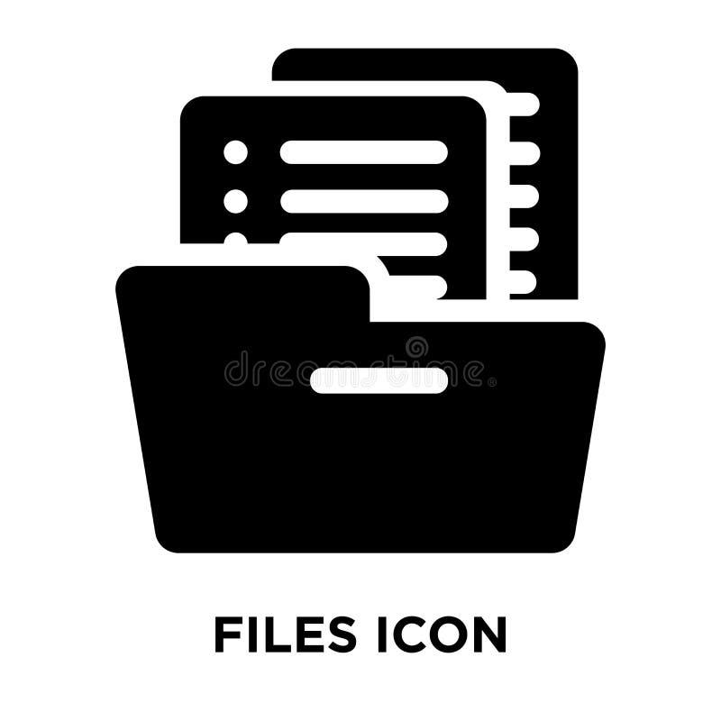 Arquiva o vetor do ícone isolado no fundo branco, conceito do logotipo de ilustração royalty free