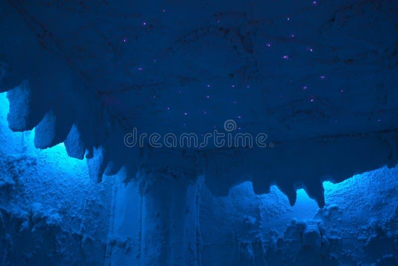 Arquivamento da caverna de sal com de fibra óptica imagem de stock