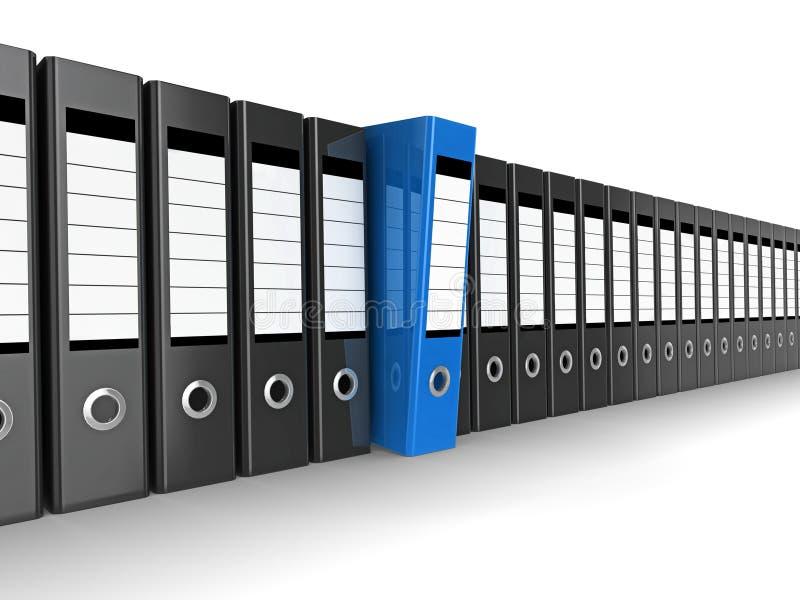 Arquivo azul ilustração stock