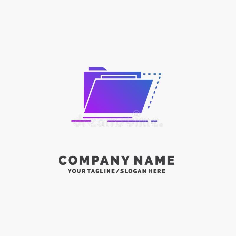Arquivo, catálogo, diretório, arquivos, negócio roxo Logo Template do dobrador Lugar para o Tagline ilustração stock