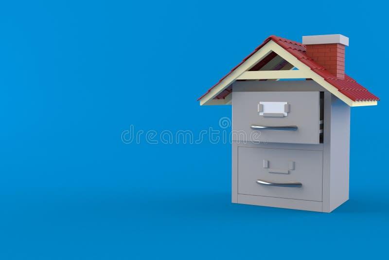 Arquivo com telhado ilustração do vetor