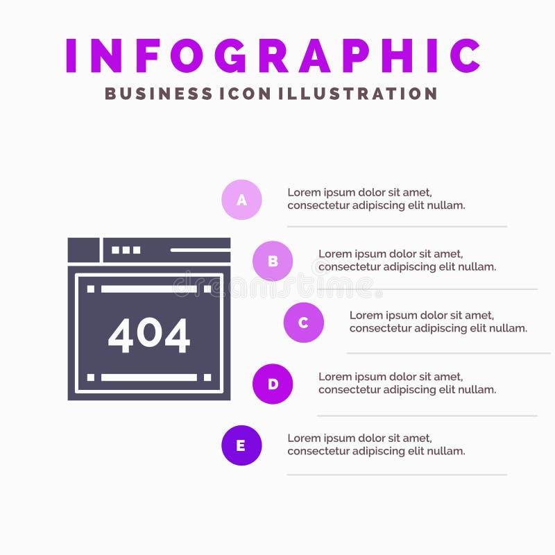 Arquivo, computando, código, codificando o molde da apresentação de Infographics Apresentação de 5 etapas ilustração do vetor