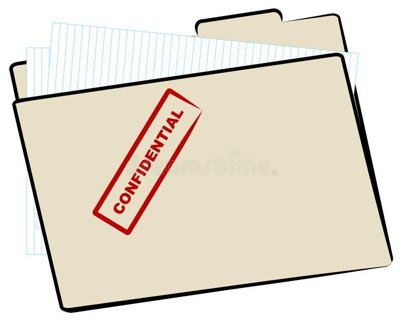 Arquivo confidencial ilustração royalty free