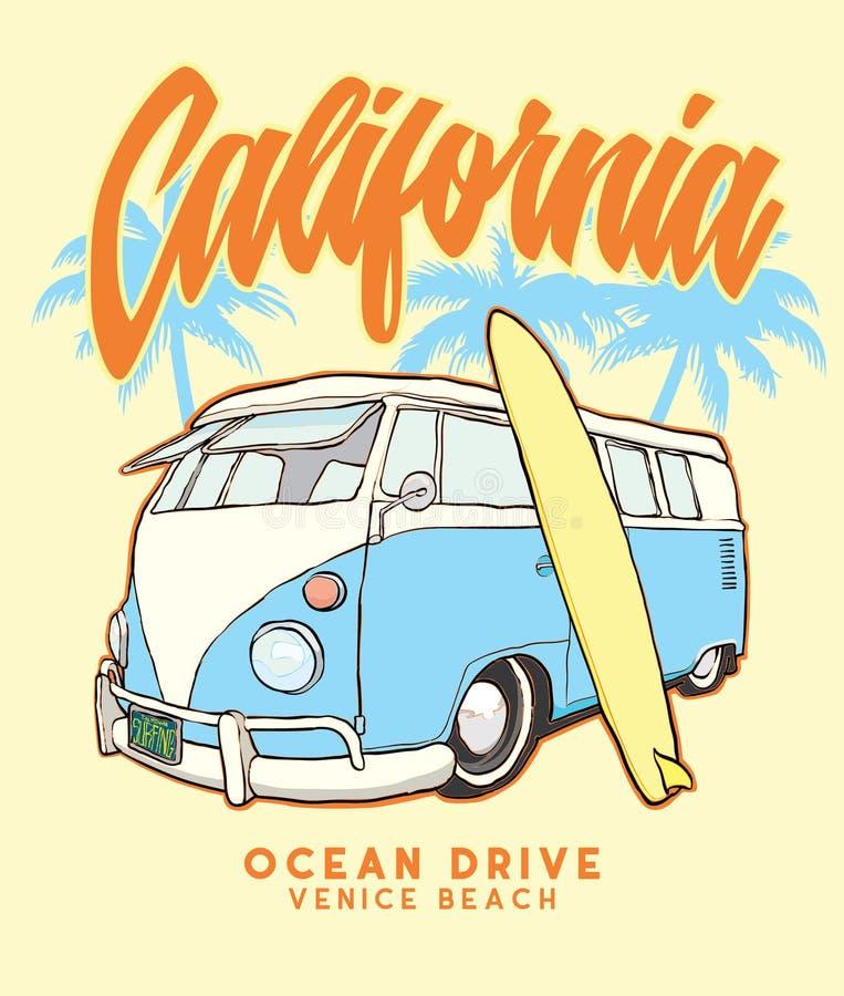 """Arquivo da ilustração do estoque do †da ilustração estoque """"do bus†da ressaca do """"de Califórnia ilustração royalty free"""