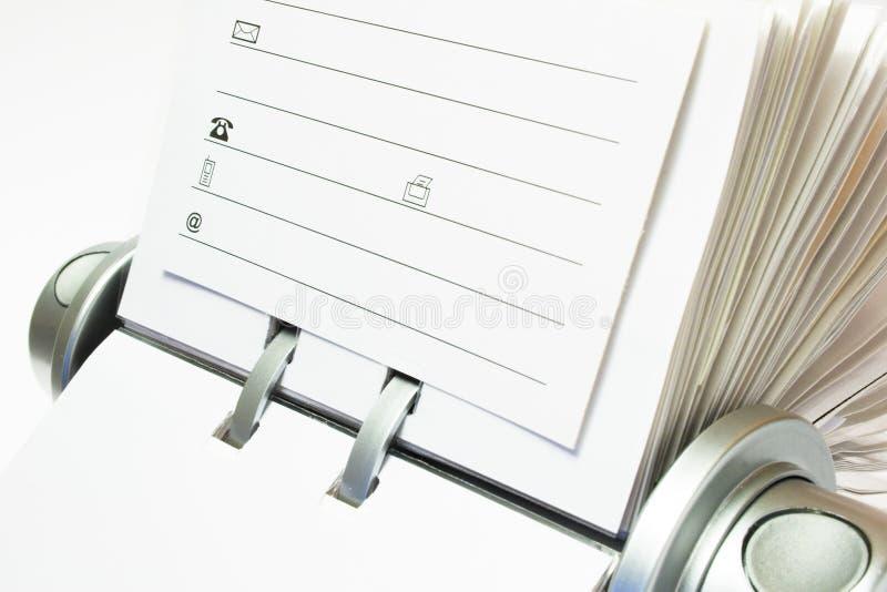 Arquivo do cartão fotos de stock
