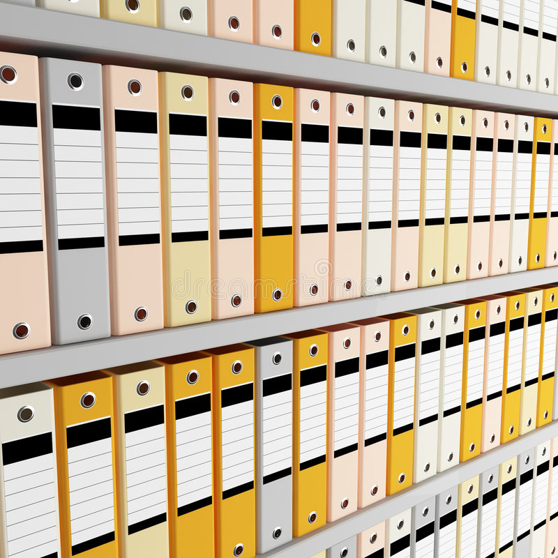 Arquivo do dobrador imagens de stock