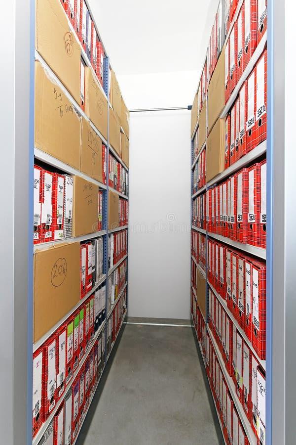 Arquivo do escritório foto de stock royalty free