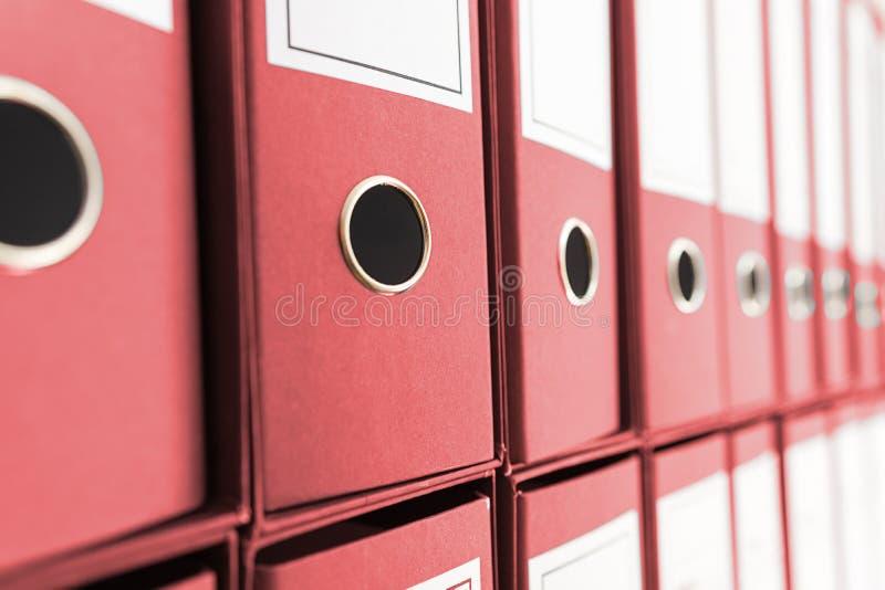 Arquivo do arquivo, Ring Binders imagem de stock