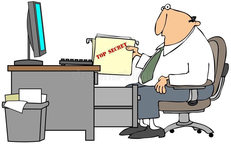 Arquivo do segredo máximo ilustração do vetor