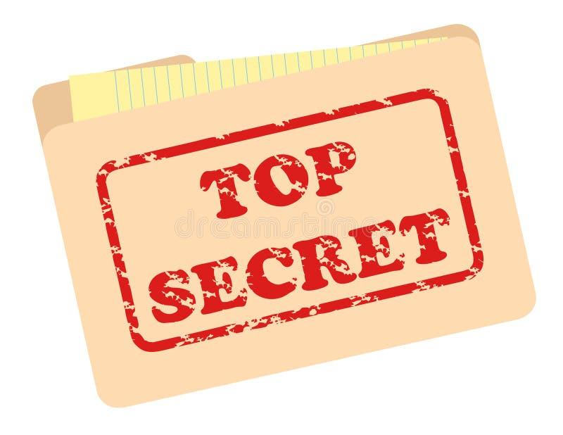 Arquivo do segredo máximo ilustração stock