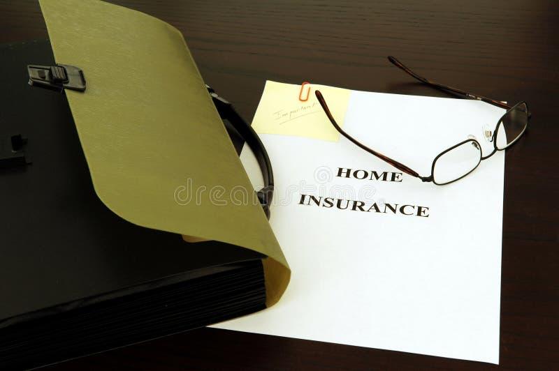 Arquivo do seguro imagens de stock