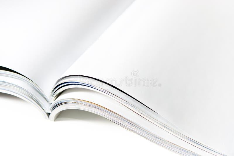 Arquivo em branco do compartimento com páginas abertas fotografia de stock royalty free