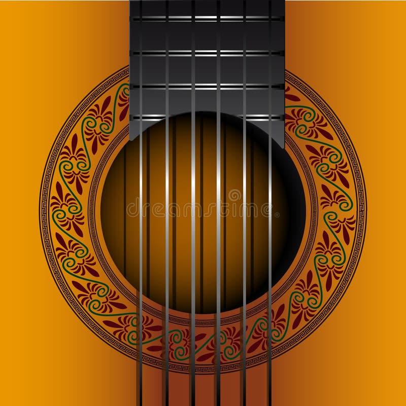 Arquivo gitar clássico do vetor do EPS da tampa do álbum ilustração stock