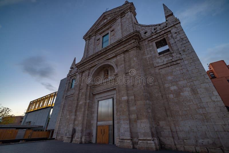 Arquivo municipal de Valladolid imagens de stock