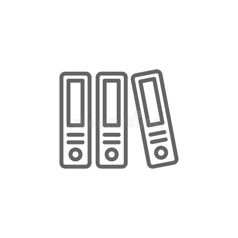 Arquivo no ícone do esboço do escritório Elementos da linha ?cone da ilustra??o do neg?cio r ilustração do vetor