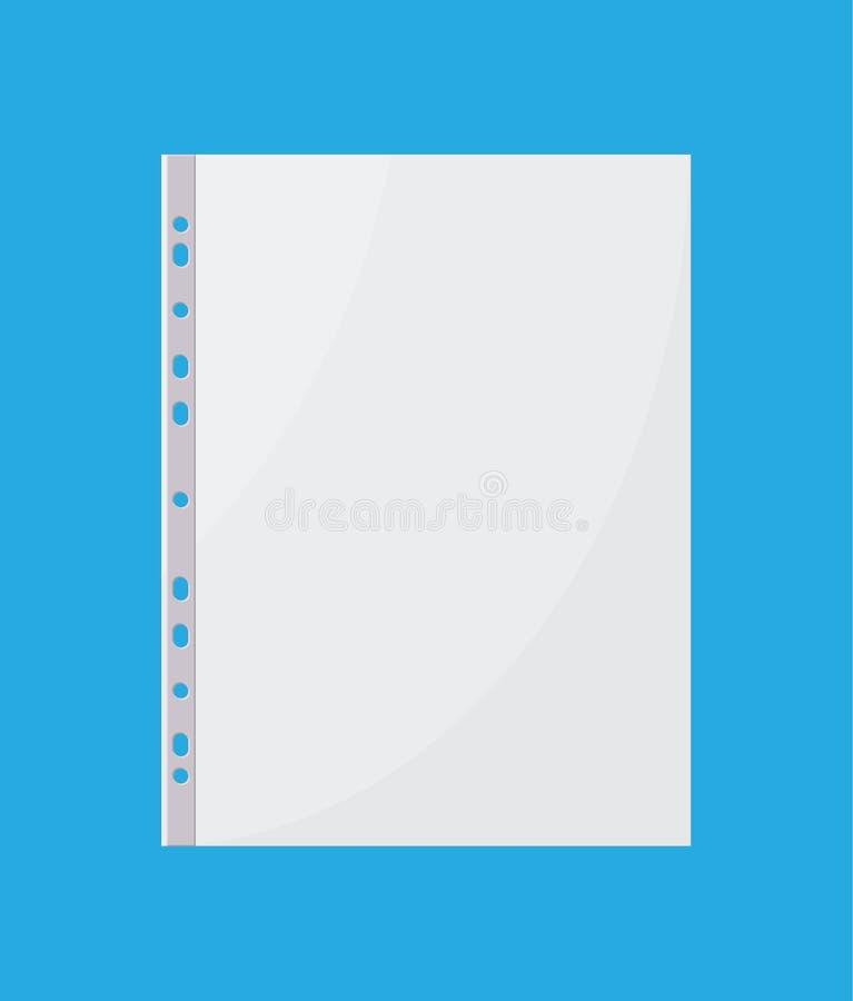 Arquivo plástico para o original de papel ilustração royalty free